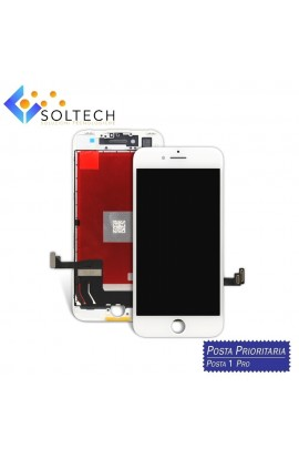 TOUCH SCREEN + LCD DISPLAY + FRAME PER IPHONE 7 VETRO SCHERMO BIANCO