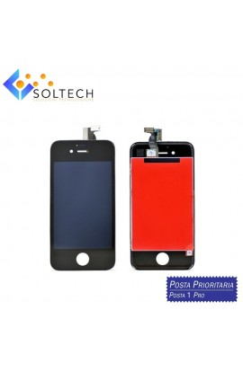 TOUCH SCREEN + LCD DISPLAY + FRAME PER IPHONE 4S VETRO SCHERMO NERO
