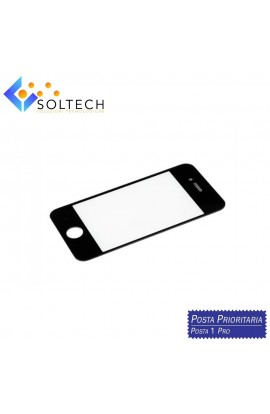 VETRO ANTERIORE FRONT GLASS SCREEN PER IPHONE 4S NERO BLACK