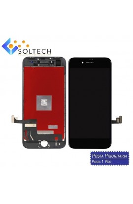 TOUCH SCREEN + LCD DISPLAY + FRAME PER IPHONE 8 VETRO SCHERMO NERO BLACK