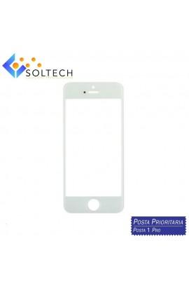 VETRO ANTERIORE FRONT GLASS SCREEN PER IPHONE 5 BIANCO WHITE