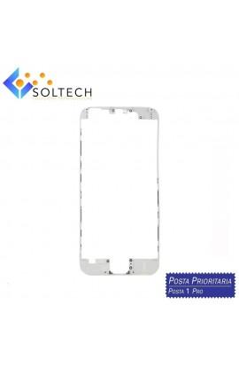 FRAME CORNICE TELAIO VETRO LCD + COLLA PER IPHONE 6 TOUCH SCREEN BIANCO WHITE