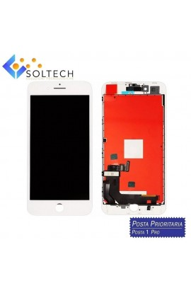 TOUCH SCREEN + LCD DISPLAY + FRAME PER IPHONE 8 PLUS VETRO SCHERMO BIANCO WHITE