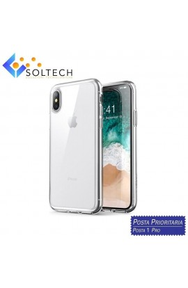 CUSTODIA COVER POSTERIORE IN SILICONE TRASPARENTE PER IPHONE X